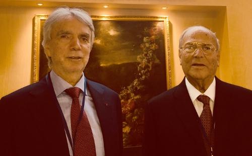 Il Presidente della IAPB Italia onlus, l'avv. Giuseppe Castronovo (a destra), col Vicepresidente Michele Corcio